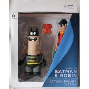 DC Comics Aardman Batman and Robin Classic Action Figure (Pack of 2)