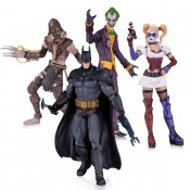 Batman Arkham Asylum Action Figure 4-pack Harley Quinn Joker Scarecrow Batman