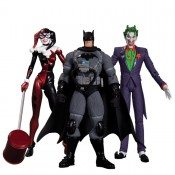 DC Batman Hush Action Figure Box Set Stealth Batman, Joker & Harley Quinn