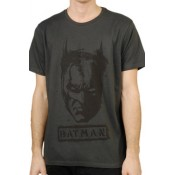 Batman T-Shirt Tag Face Grey