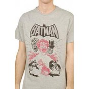 Batman T-Shirt Villains Cover Grey