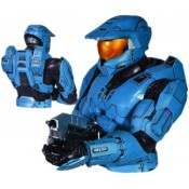 Halo Spartan Mark VI Blue Bust Bank