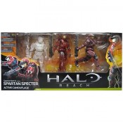 Halo Reach Series 4 Spartan Mark VI Custom Spartan Specter Active Camouflage 3-Pack Action Figure