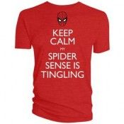 Spiderman Keep calm my spider sense is Tingling T-Shirt