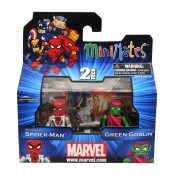 "Marvel Minimates Wave 41 Classic Spider-Man ""Unmasked"" & Green Goblin (with Minimate-scale Goblin Glider)"