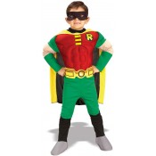 Robin Deluxe Padded Muscle Chest Costume Fancy Dress