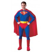 Superman Deluxe Padded Muscle Chest Costume Fancy Dress Adult