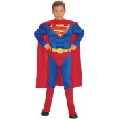 Superman Deluxe Padded Muscle Chest Costume Fancy Dress