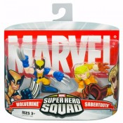 Superhero Squad Wolverine & Sabertooth 2-pack