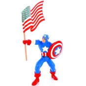 Marvel Comics Mini Figure Captain America & Flag
