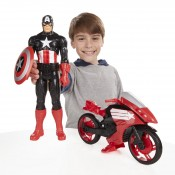 Marvel Avengers Titan Hero Series Captain America Defender Cycle