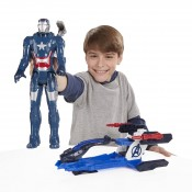 Marvel Avengers Titan Hero Series Iron Patriot Arc Thruster Jet Action Figure