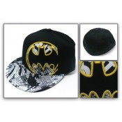 Batman Logo Black & White Flex Fit Cap