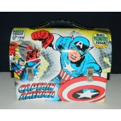 Captain America Workmans Carry All Tin Tote Lunchbox Style A