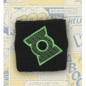 Green Lantern Terry Cloth Wristband - Pattern Logo