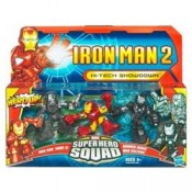 Iron Man 2 Superhero Squad Three-Packs Series 02 Mark VI, War Machine, Drone