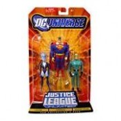 Justice League Unlimited Three-Packs Livewire, Superman, Weather Wizard Action Figures