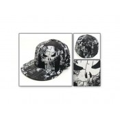 Punisher Allover Print Mens Flex Fit Flat Bill Cap