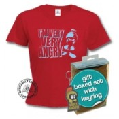 Angry Marvin Looney Tunes Ladies T-Shirt & Keyring Gift Set