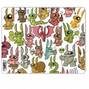 Joe Ledbetter Mouse Pad Bunnies Invasion 25 x 22 cm