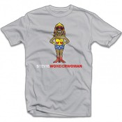 Popmash Mens Stevie Wonder Woman T-Shirt