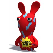 Rayman Raving Rabbids PVC Figure 90 Percent Bunny Limited Edition