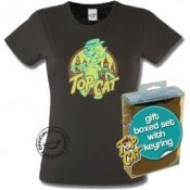 Top Cat Hanna-Barbera Ladies T-Shirt & Keyring Gift Set