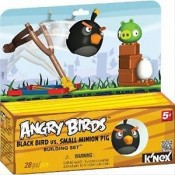 Angry Birds Black Bird vs. Small Minion Pig