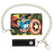 Marvel Captain America Mens Multi Chain Wallet