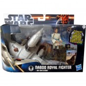 Star Wars Class I Vehicles with Figures Naboo Royal Fighter with Obi-Wan Kenobi Clone Wars