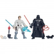 Star Wars Hero Mashers Battle Pack Luke Skywalker vs Darth Vader Action Figures