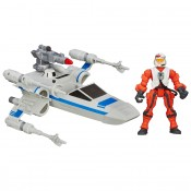 Star Wars Hero Mashers Vehicle Resistance x-wing & Resistance Pilot