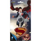 Superman Man Of Steel Metal Key Ring Logo