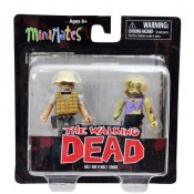 The Walking Dead minimates series 1 Dale and female Zombie