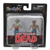 The Walking Dead minimates series 1 Guts Zombie and Burned Zombie