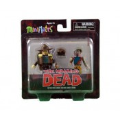 The Walking Dead minimates series 1 Officer Rick Grimes and One Armed Zombie