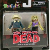 The Walking Dead minimates series 1 Winter Coat Dale and female Zombie