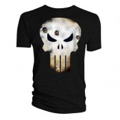 Punisher T-Shirt - Skull Logo (Battle Damaged)