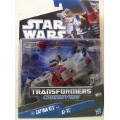 Star wars Transformers Crossovers Captain Rex to AT-TE